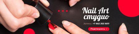 Plantilla de diseño de Woman on Manicure procedure VK Community Cover