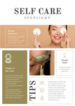Ontwerpsjabloon van Newsletter van Self Care and Beauty Overview