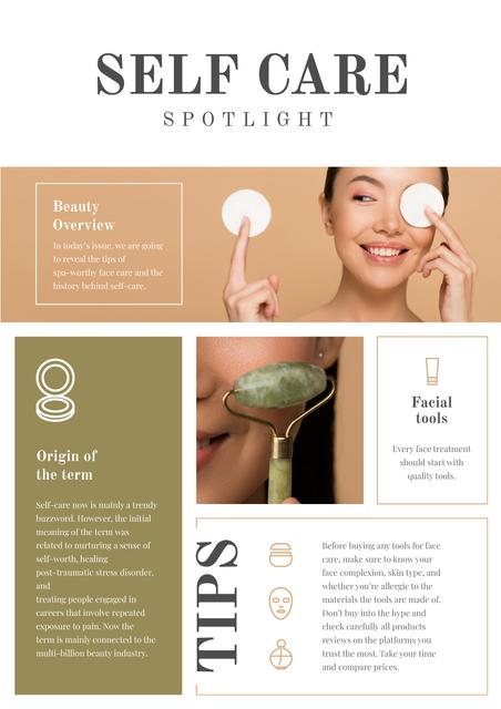 Self Care and Beauty Overview Newsletter Design Template