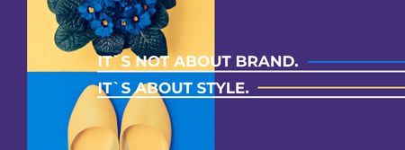 Plantilla de diseño de Fashion Ad with female shoes Facebook cover