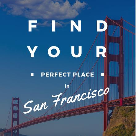 San Francisco Scenic Bridge View Instagram AD – шаблон для дизайну