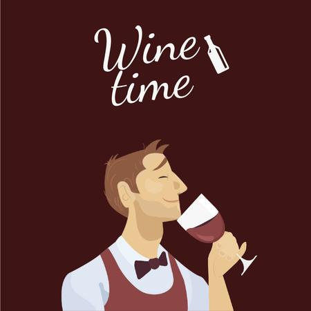 Template di design Sommelier Smelling Wine Animated Post