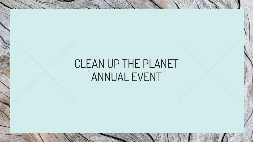 Designvorlage Clean up the Planet Annual event für Youtube