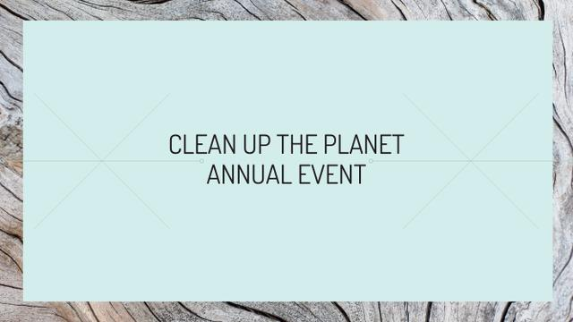 Template di design Clean up the Planet Annual event Youtube