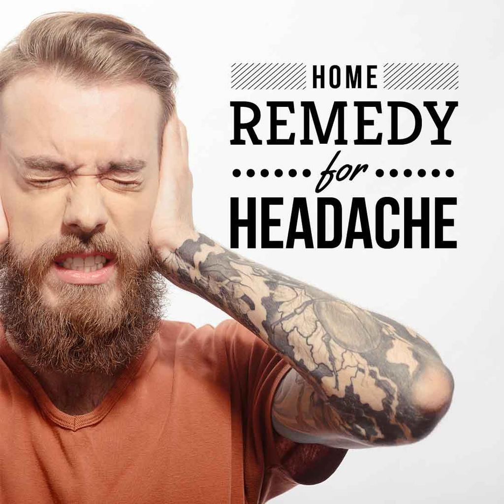 Plantilla de diseño de Man suffering from headache Instagram