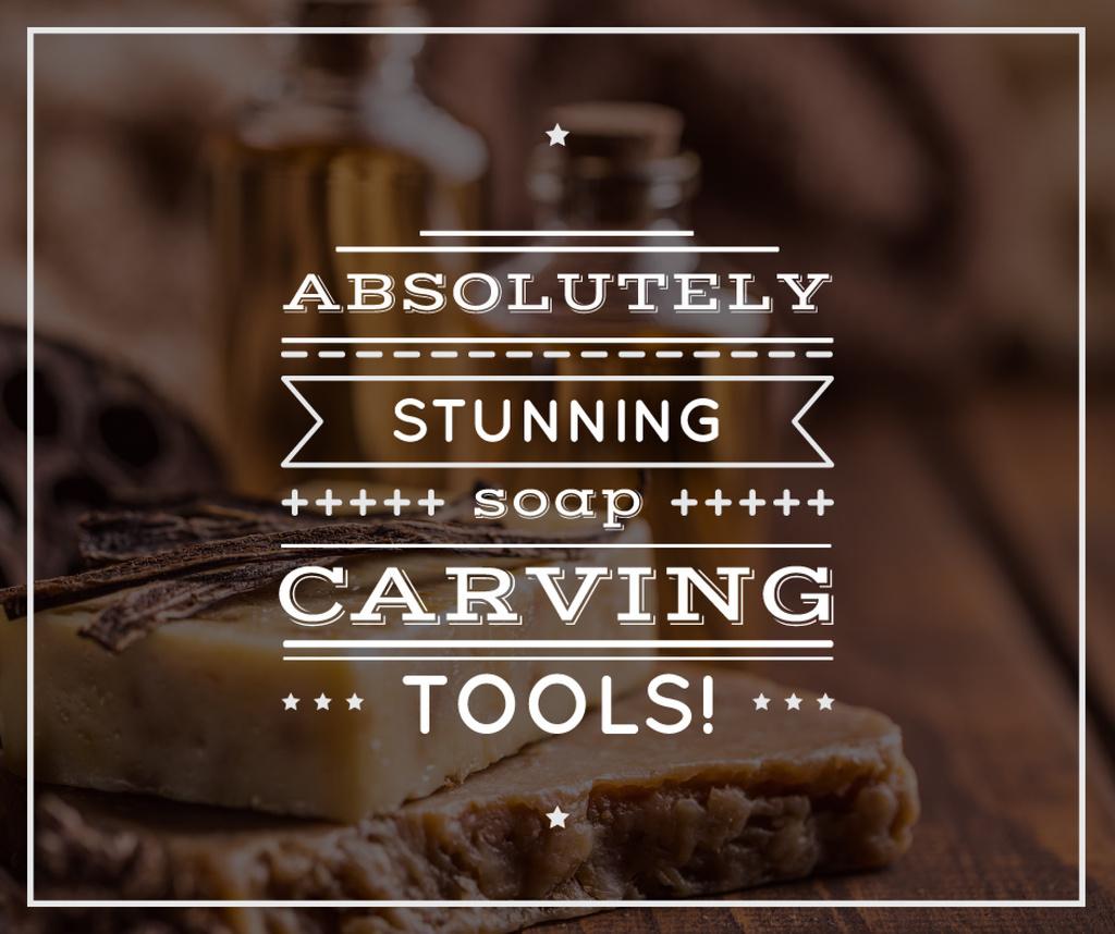 Soap Carving Tools Ad Handmade Soap Bars | Facebook Post Template — Crear un diseño