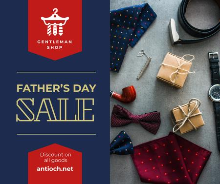 Ontwerpsjabloon van Facebook van Stylish male accessories for Father's Day