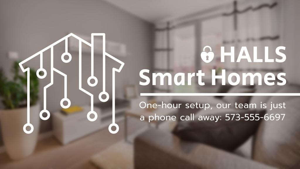 Smart Home Digital Icon on House Network | Full Hd Video Template — Create a Design