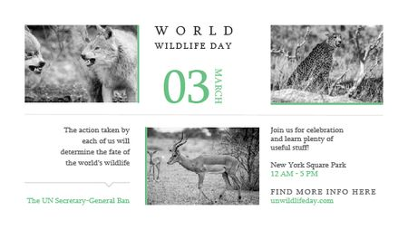Plantilla de diseño de World Wildlife Day Animals in Natural Habitat Title