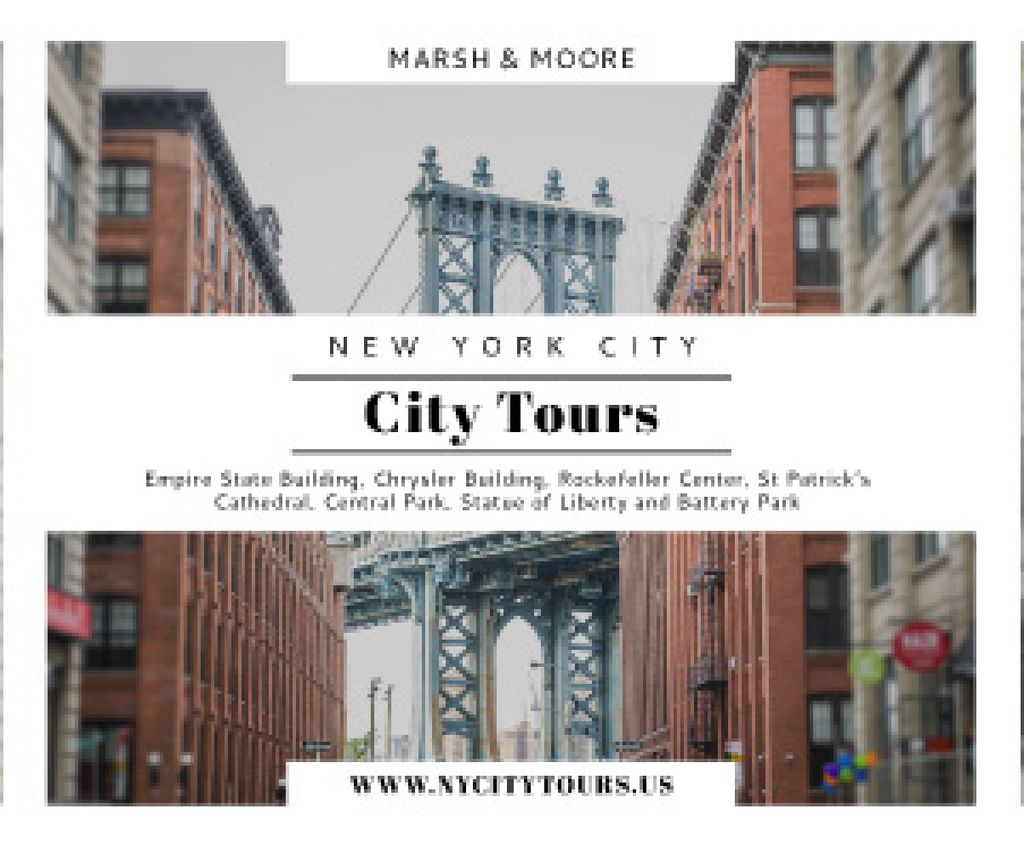New York city tours advertisement — Создать дизайн