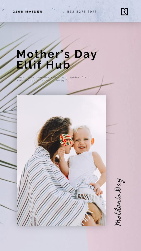 Mother's Day Greeting Child with Loving Mother | Vertical Video Template — Créer un visuel