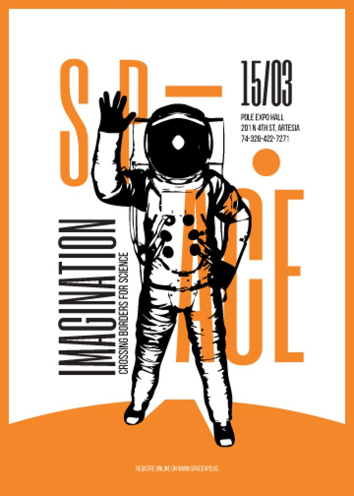 Sci-fi movies marathon poster with spaceman — Create a Design