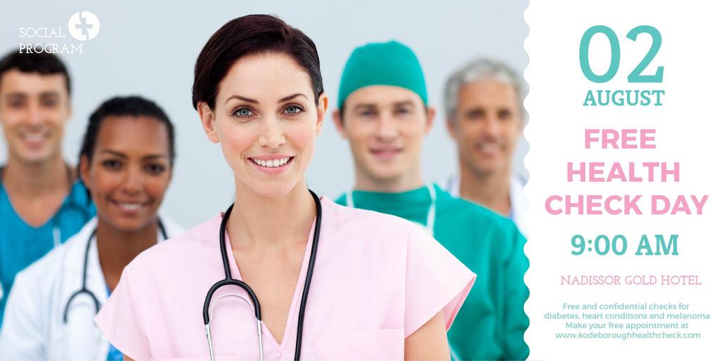 Free health check day advertisement — Crea un design