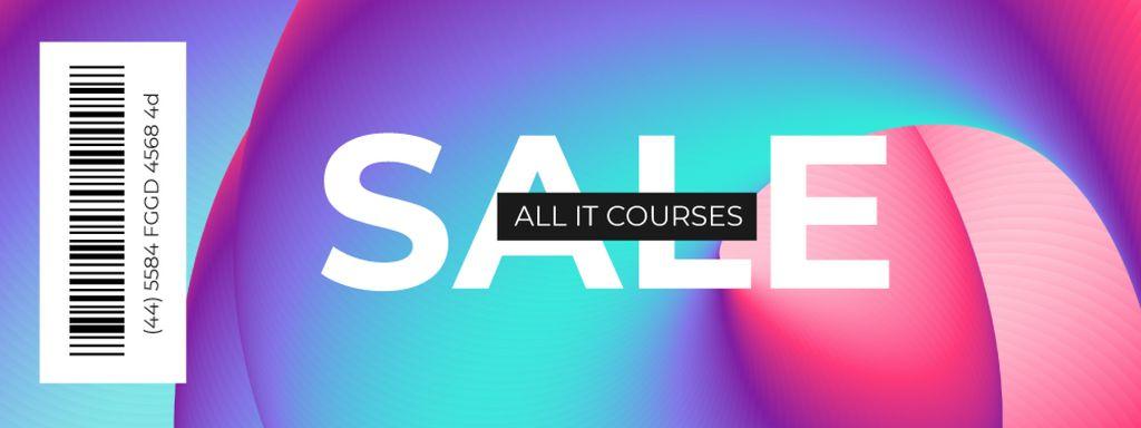 Sale Offer with Gradient Pattern — Modelo de projeto
