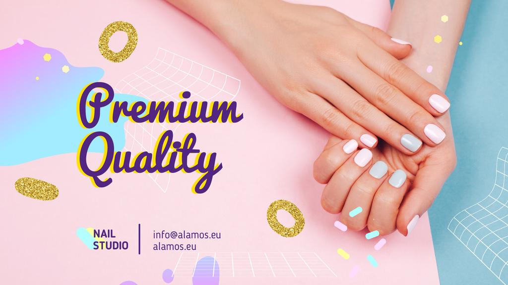 Beauty Salon Ad Manicured Hands in Pink | Full HD Video Template — Créer un visuel
