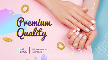 Beauty Salon Ad Manicured Hands in Pink | Full HD Video Template