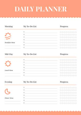 Ontwerpsjabloon van Schedule Planner van Daily Planner with Sun and Moon icons