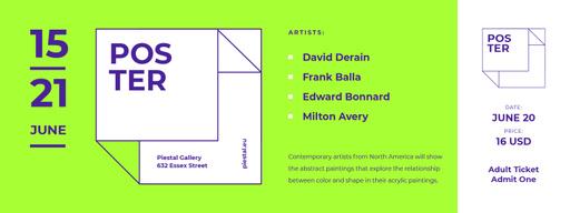 Contemporary Art Exhibition Announcement Tickets