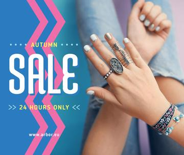 Jewelry Sale Woman in Precious Rings | Facebook Post Template