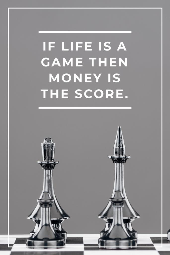 Business Quote with Chess on Board Pinterest Modelo de Design