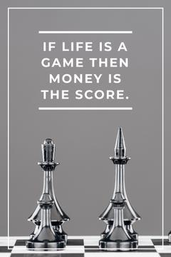 Business Quote with Chess on Board