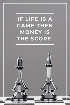 Modèle de visuel Business Quote with Chess on Board - Pinterest