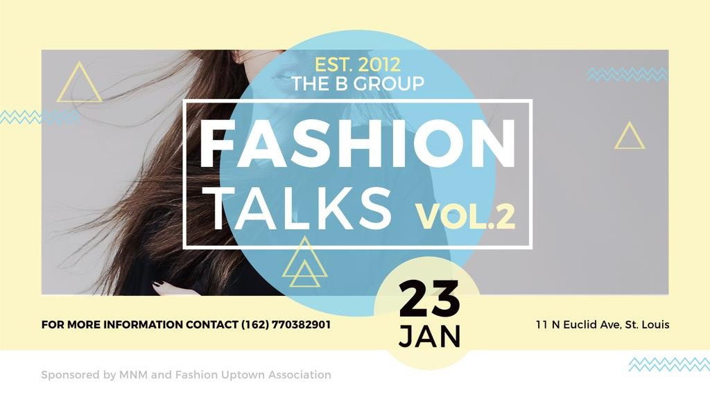 Fashion talks poster — Crear un diseño