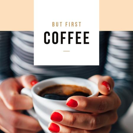 Template di design Woman holding Cup of Coffee Instagram