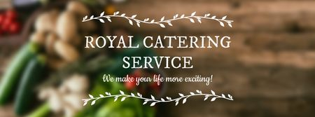 Template di design Catering Service Vegetables on table Facebook cover