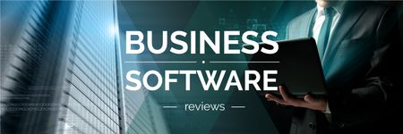 Business software reviews poster Twitter Modelo de Design