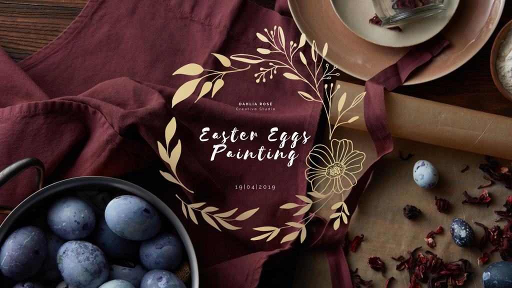 Coloring Easter eggs to Easter Day — ein Design erstellen