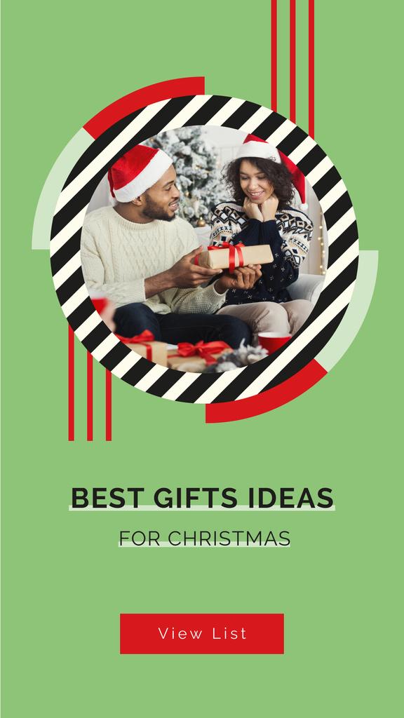 People sharing Christmas gifts — Maak een ontwerp