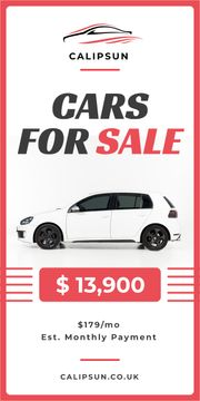 Care Sale Ad White Hatchback in White