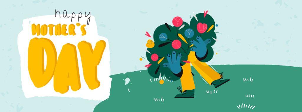Man holding large bouquet — ein Design erstellen