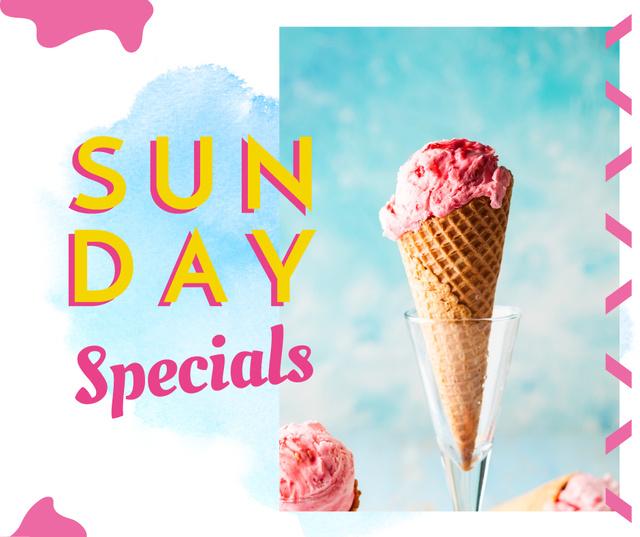 Template di design Pink ice cream offer Facebook