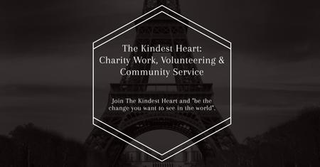The Kindest Heart Charity Work Facebook AD Modelo de Design