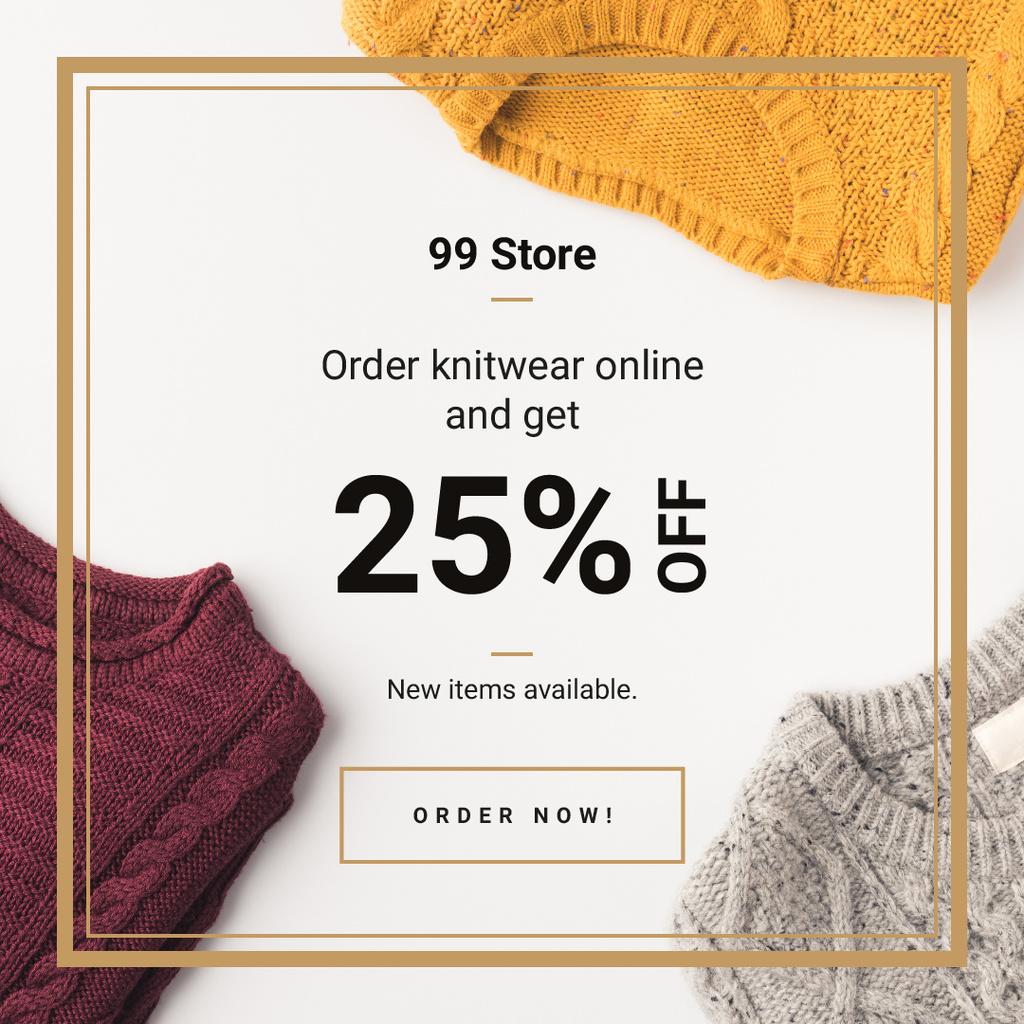 Warm knitted sweaters — Crear un diseño