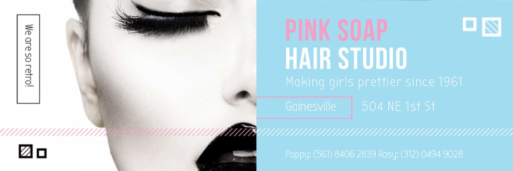 Pink Soap Hair Studio — Crea un design