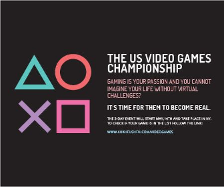 Plantilla de diseño de Video games Championship  Large Rectangle