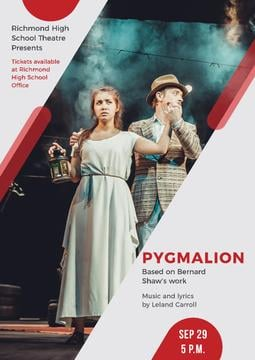 Pygmalion performance in Theater
