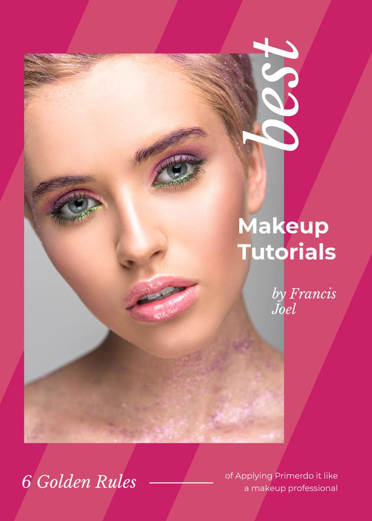 Young woman with pink makeup — Create a Design