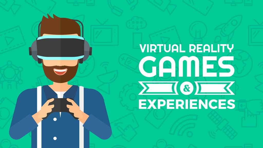 virtual reality games poster — Створити дизайн