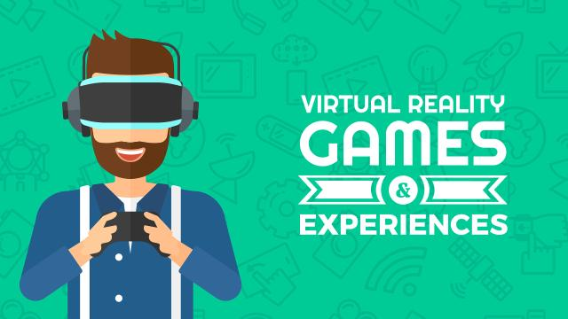 Plantilla de diseño de Virtual reality games Ad Youtube