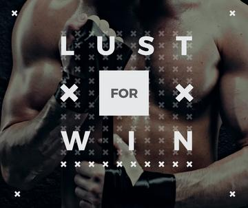 lust for win poster with boxer