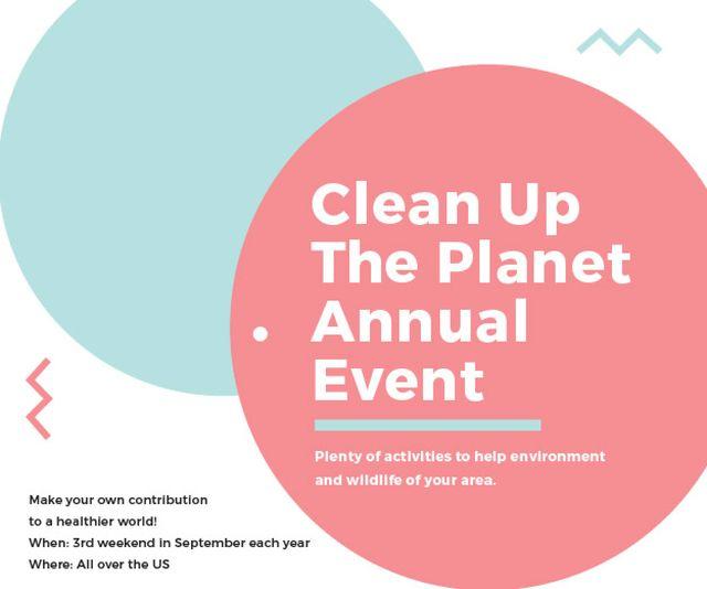 Clean up the Planet Annual event Medium Rectangle – шаблон для дизайна