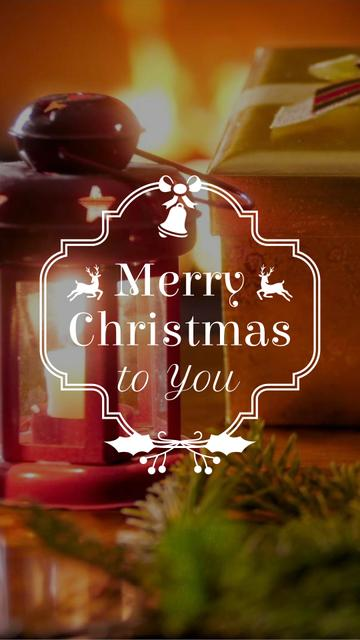 Plantilla de diseño de Christmas Decoration by Fireplace Instagram Video Story