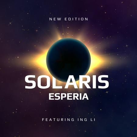 Solar Eclipse in space Album Cover – шаблон для дизайна