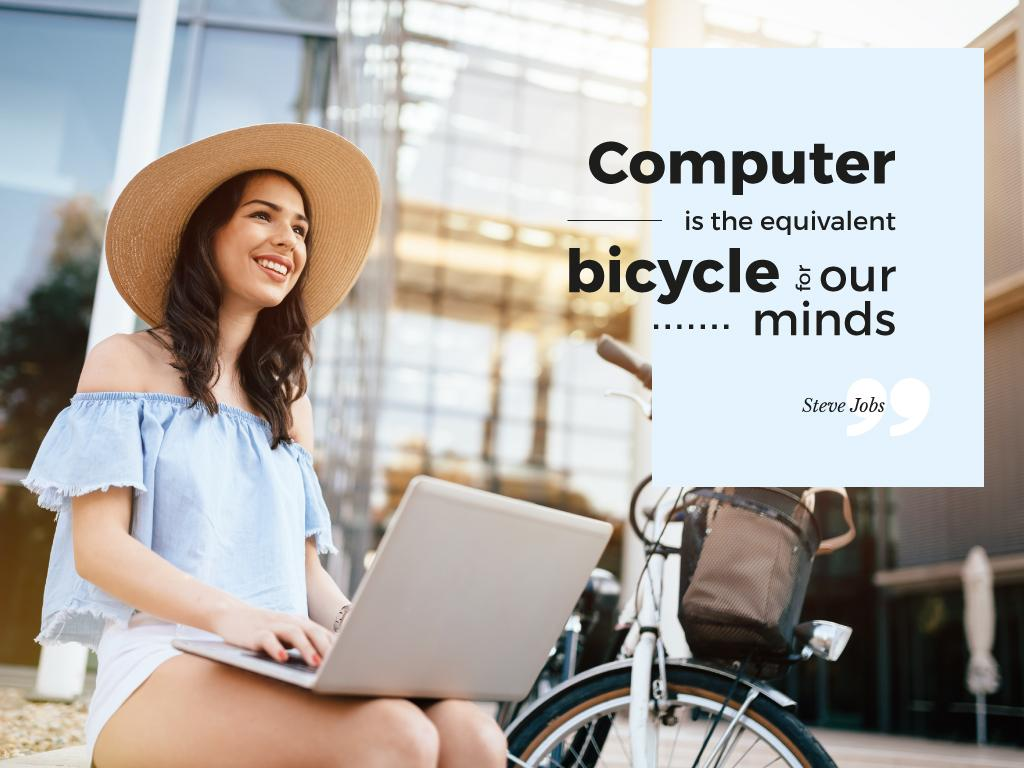 Computer is the equivalent bicycle for our minds — ein Design erstellen