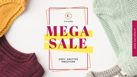 Designvorlage Special Sale with Colorful sweaters für Full HD video