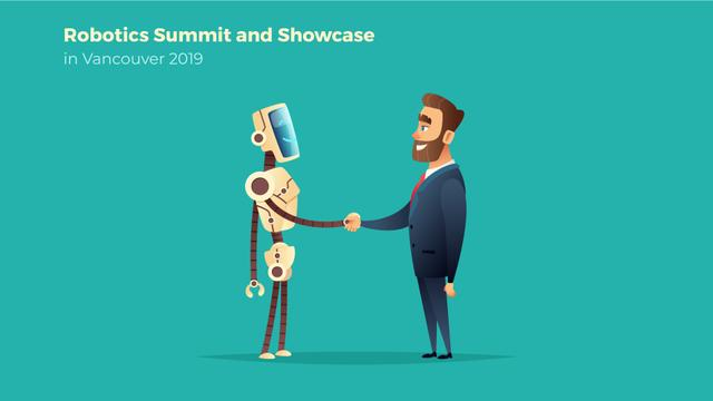 Modèle de visuel Robot and businessman shaking hands - Full HD video